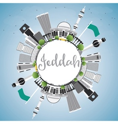 Jeddah Skyline with Gray Buildings vector