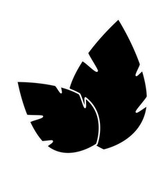 Leaves eco symbol vector