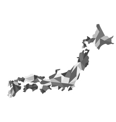 map Japan polygon vector image