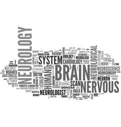 Neurology word cloud concept vector