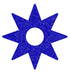 New star sticker icon grunge watermark vector