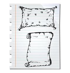 Notebook sketch vector