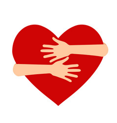 on theme national hug day vector image