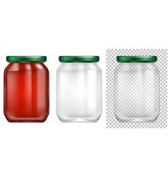Packaging design for glass jar vector