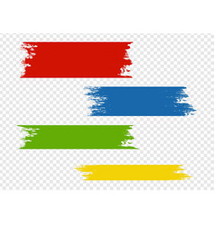 paint blot isolated transparent background vector image