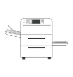 printer or copy machine and paper documents vector image