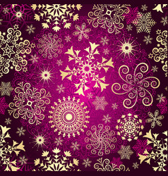 Purple gradient christmas seamless pattern vector