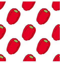 red bell peppers seamless pattern vector image