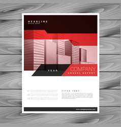 Red brochure layout template for business vector