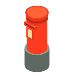 red mailbox icon isometric 3d style vector image