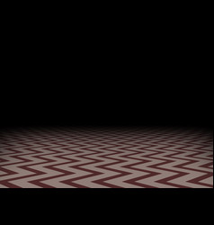 Red zig-zag floor in darkness horizontal vector