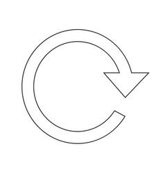 reload arrow icon design vector image