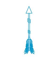Rustic arrow with ornamental design vector