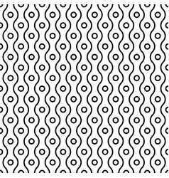 seamless small circles and wavy linear grid vector image