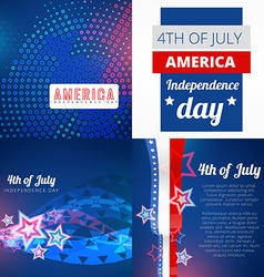 set of 4th july american independence day vector image