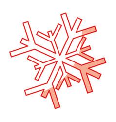 shadow snowflake cartoon vector image