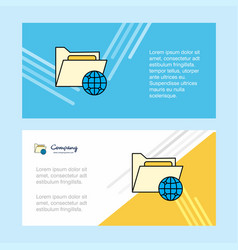 Shared folder abstract corporate business banner vector