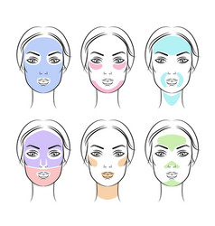 simple face masks vector image