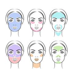 Simple face masks vector