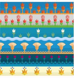 six egyptian style borders vector image