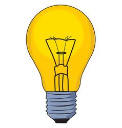 Small lightbulb on white background vector