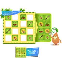 Sudoku game insects logic vector