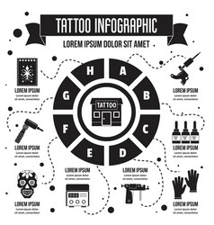 Tattoo infographic simple style vector