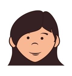 Teenager girl cartoon icon vector