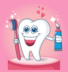 toothbrush concept banner cartoon style vector image