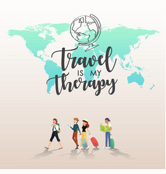 Traveling around the word with friends design vector