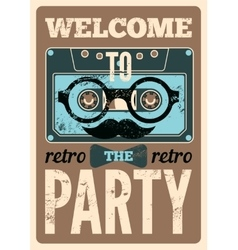 Typographical Retro Party poster vector