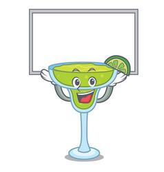 Up board margarita character cartoon style vector