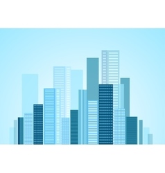 Urban modern city panorama vector