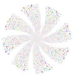 Venus symbol fireworks swirl rotation vector