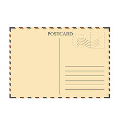 Vintage postcard template vector