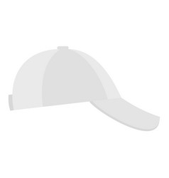 white baseball cap on side icon flat style vector image