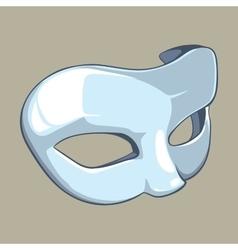 white mask vector image