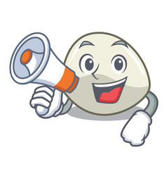 With megaphone character cartoon homemade organic vector