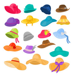 woman hat fashion clothing headgear or vector image