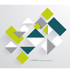 Abstract 3D Paper Graphics vector image vector image