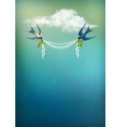 Flying Bird Swallow Card vector image vector image