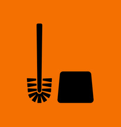 Toilet brush icon vector