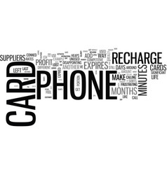 What do i do when my phone card expires text word vector