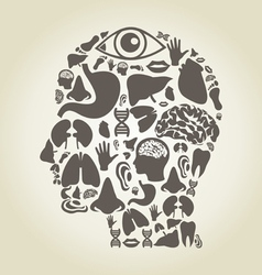Head of part body vector image vector image