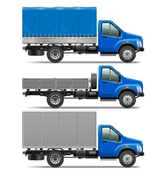Lorry Icons Set 1 vector image vector image
