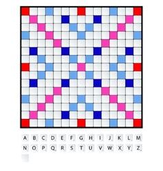 Scrabble set vector image