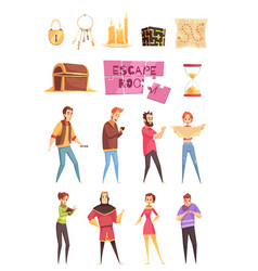 smart game decorative icons set vector image vector image
