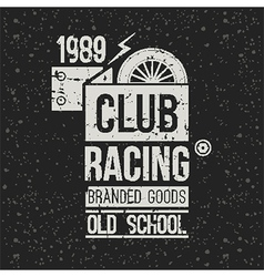 Emblem racing club vector image