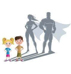 Kids Superhero Concept 2 vector image vector image