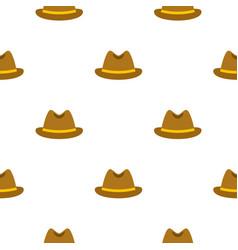 Man hat pattern flat vector